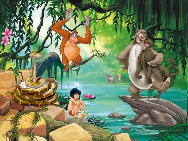 XXL Photo Wallpaper Mural Jungle Book Mogli Balu Kids online kaufen