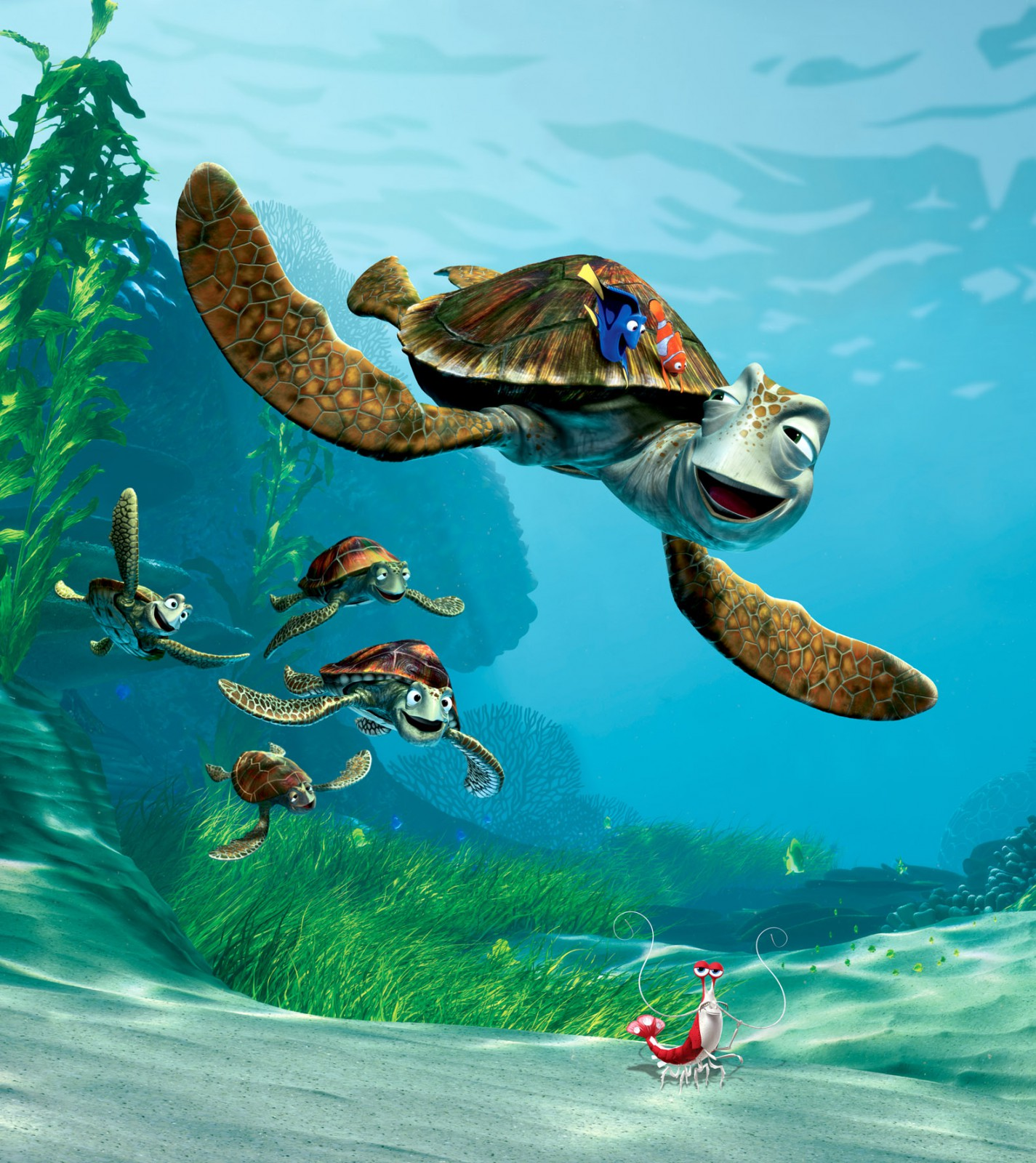XXL Photo Wallpaper Mural Disney Finding Nemo Crush 001