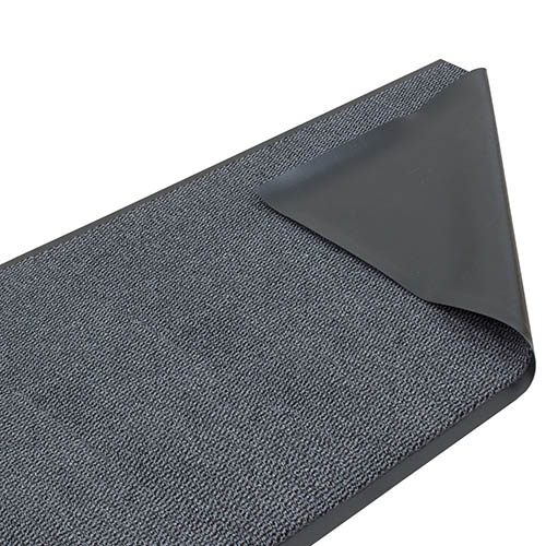 Dirt Barrier Runner Rug Mat grey Basic Clean 120cm