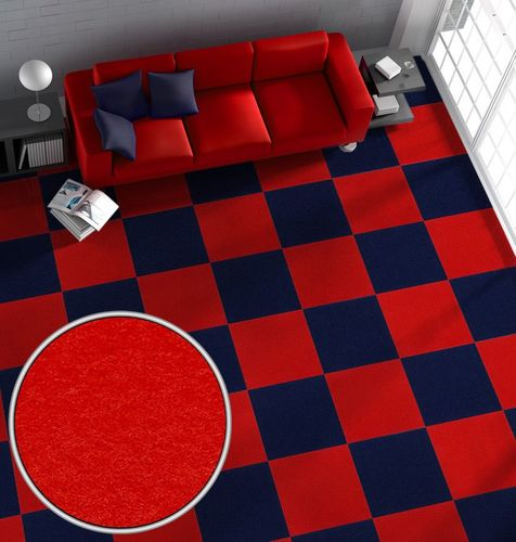 Carpet Tile Jive Needle Felt self-adhesive plain red online kaufen