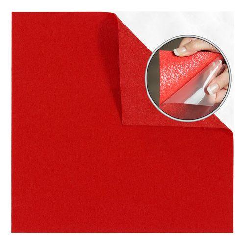 Teppichfliese Jive Nadelfilz selbstklebend Uni Rot