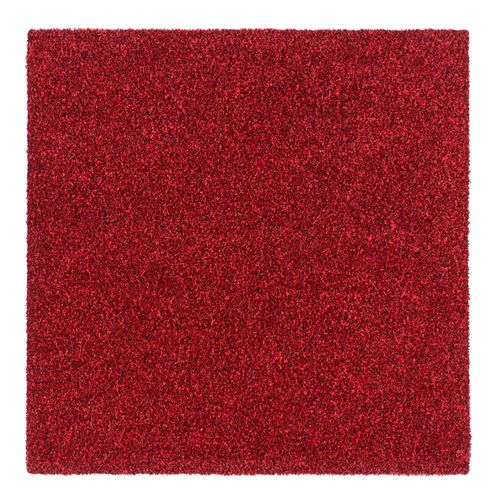 Carpet Tile Velour Hard-Wearing Rug red 50x50 cm