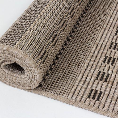 Kurzflor Teppich Astra Webteppich Streifen beige online kaufen