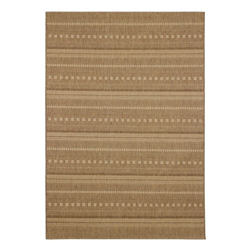 Carpet Rug Flatwoven Astra Stripes brown beige online kaufen