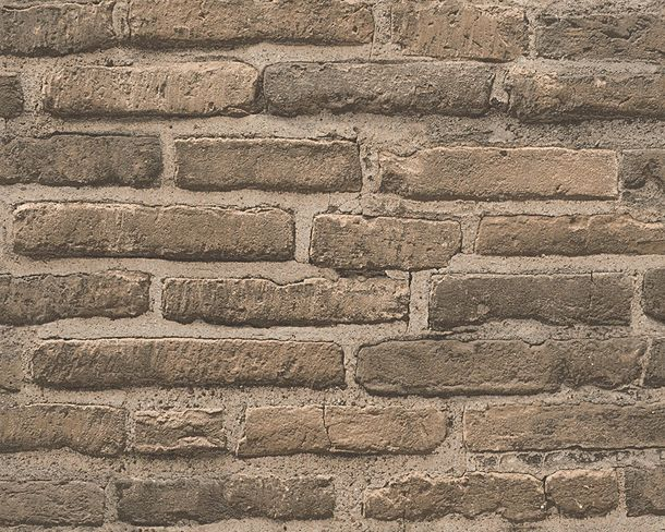 Wallpaper stone wall style AS Creation brown 30747-2 online kaufen