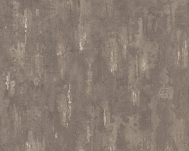 Wallpaper cement plaster AS Creation brown 30694-6
