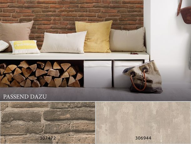 Wallpaper stone wall style AS Creation red brown 30747-1 online kaufen