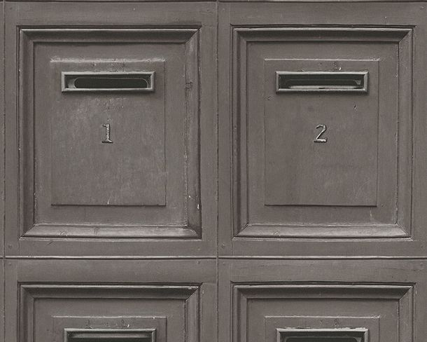 Wallpaper vintage mail box AS Creation grey 30745-2 online kaufen