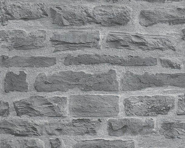 Wallpaper stone wall style AS Creation grey 31944-2 online kaufen