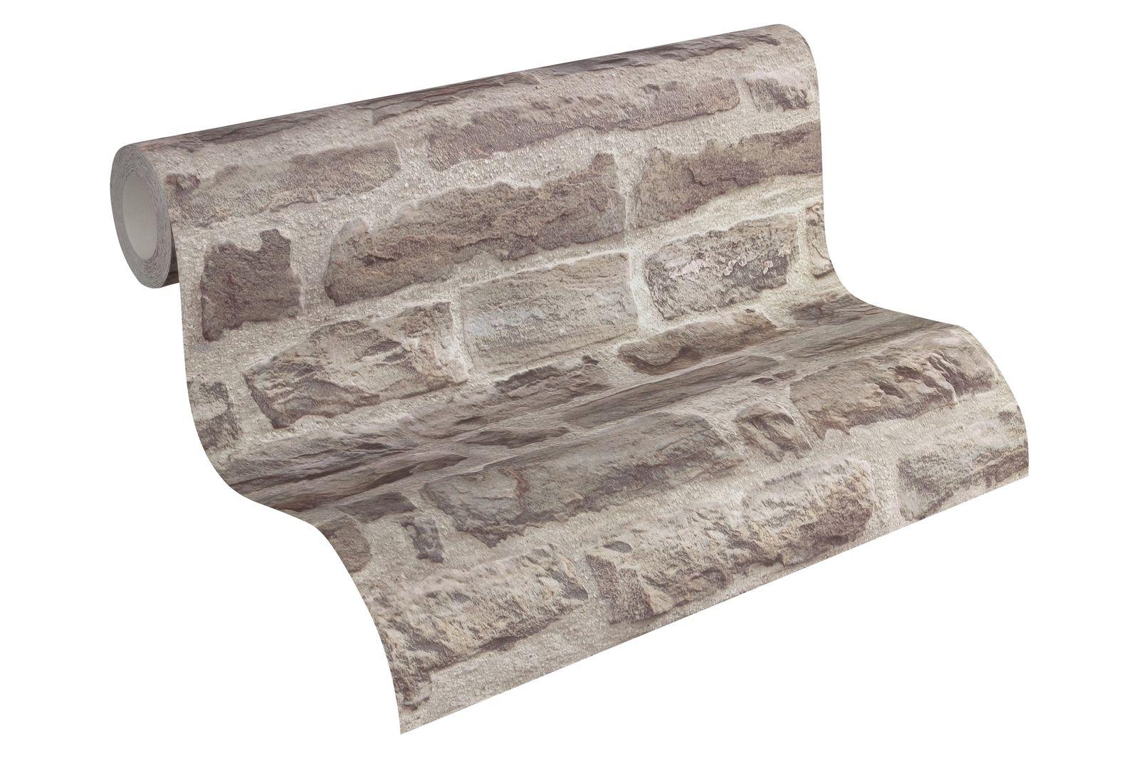 Vliestapete Stein-Optik Steinmauer AS Creation beige grau 31944-1 2,42€//1qm