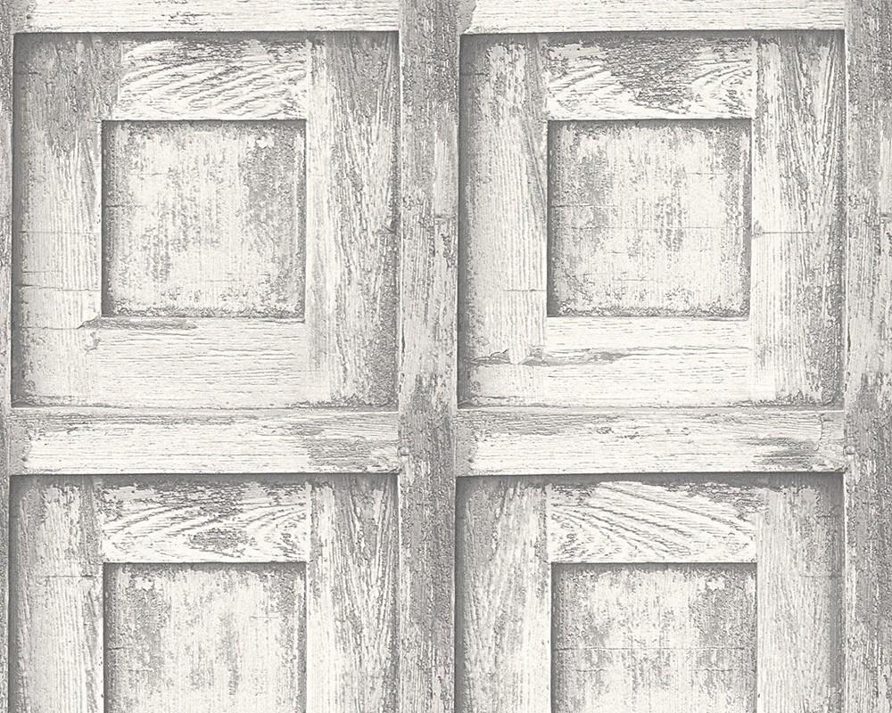 tapete holz vintage as creation wei grau 30750 2. Black Bedroom Furniture Sets. Home Design Ideas