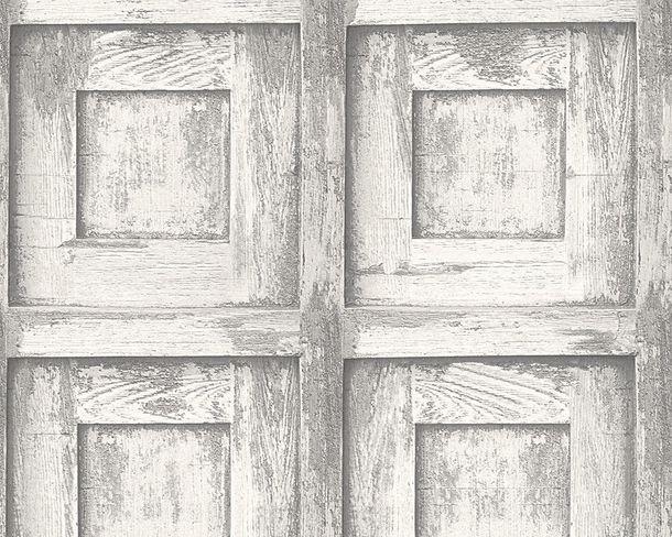 Wallpaper wood vintage AS Creation white grey 30750-2 online kaufen