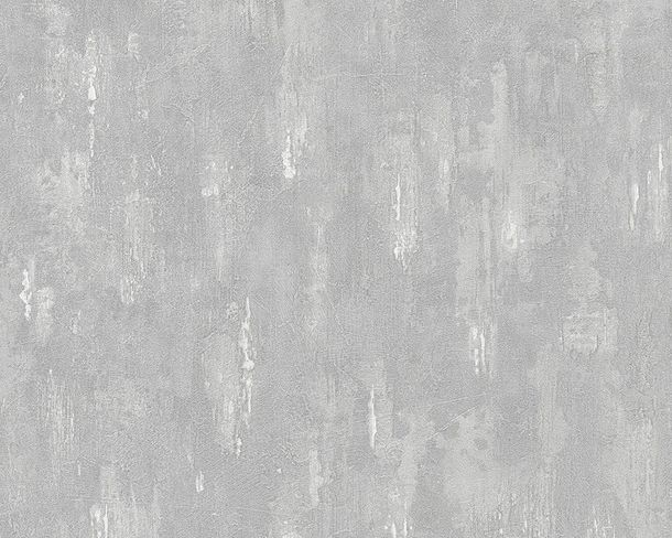 Wallpaper cement plaster AS Creation grey 30694-3
