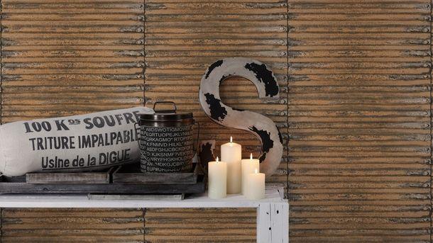 Wallpaper corrugated metal AS Creation brown 30756-2 online kaufen