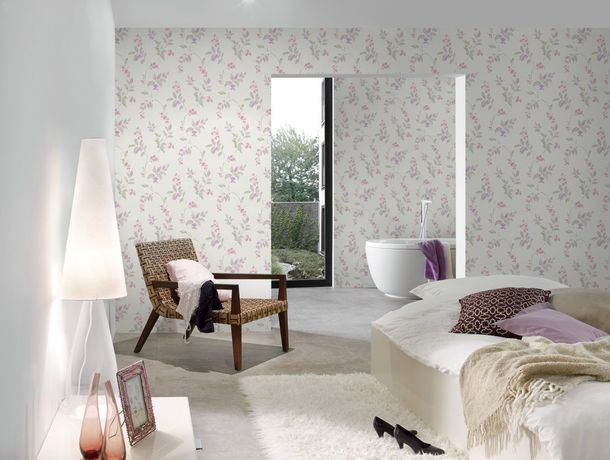 Wallpaper floral flowers AS Creation beige 30416-1 online kaufen