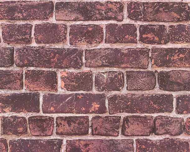 Wallpaper stone clincer bricks AS Creation red 30682-1