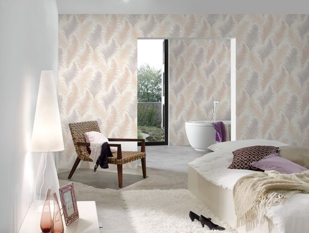 Wallpaper floral fern nature AS Creation cream 30508-1 online kaufen