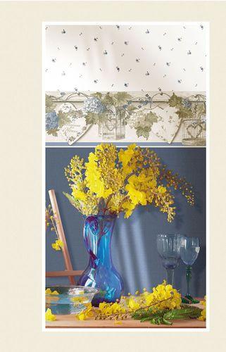 Vinyltapete Blumen Rosen Rasch Textil weiß blau 004116 online kaufen