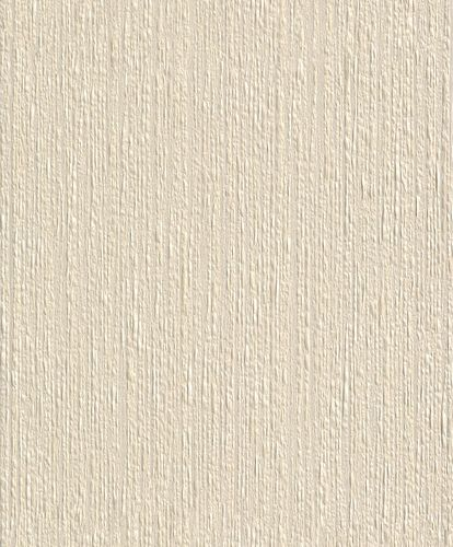 Wallpaper Rasch Textil paper yarn plain design cream 77703