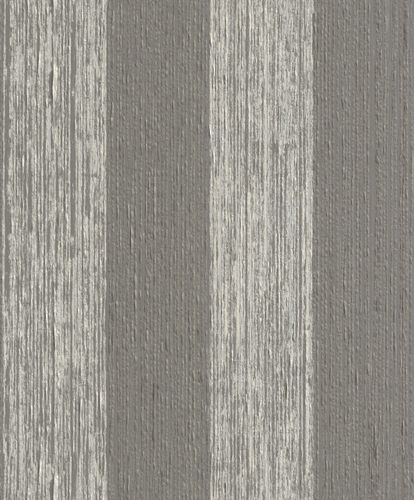 Wallpaper stripes Rasch Textil Paper Yarn grey 077772