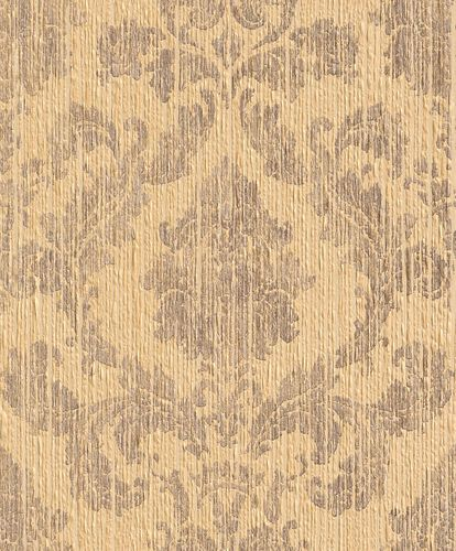 Wallpaper baroque Rasch Textil Paper Yarn yellow 077864
