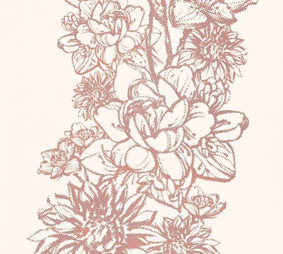Wallpaper Floral Metallic rose AS Creation 30706-1