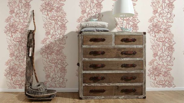 Wallpaper Floral Metallic rose AS Creation 30706-1 online kaufen