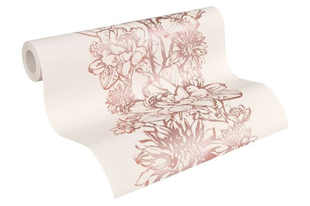 Tapete Grafik Floral Metallic rosa Lutèce 30706-1 online kaufen