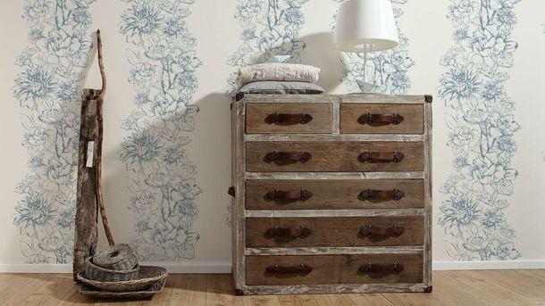 Tapete Grafik Floral Metallic creme AS Creation 30706-2 online kaufen
