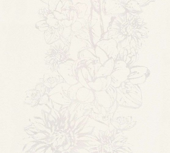 Wallpaper Floral Metallic cream grey AS Creation 30706-4 online kaufen