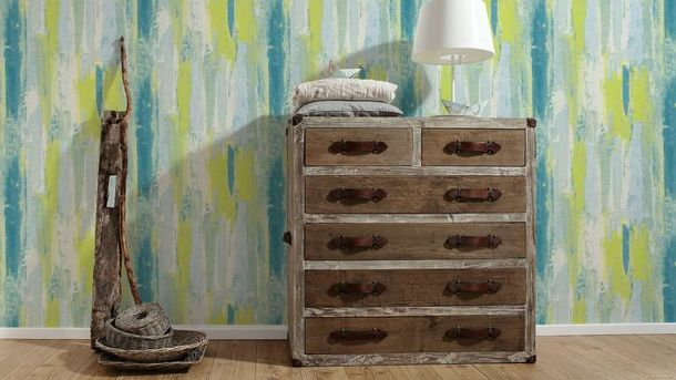 Wallpaper Shabby Design green blue AS Creation 31949-3 online kaufen