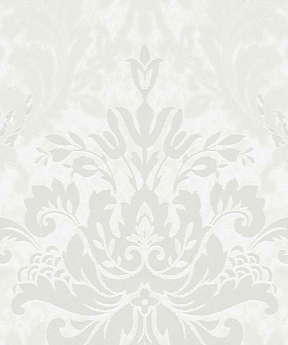 Wallpaper baroque shine white marburg la veneziana 57925 - Barock wallpaper ...