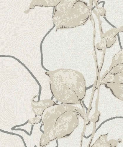 Wallpaper floral shine cream Marburg La Veneziana 57942