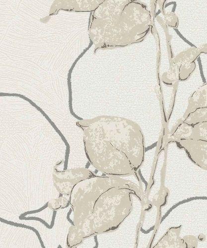 Wallpaper floral shine cream Marburg La Veneziana 57942