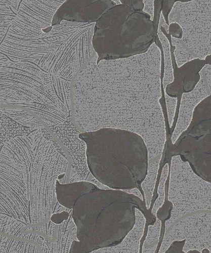 Wallpaper floral shine grey Marburg La Veneziana 57944