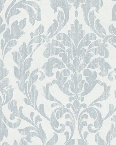 Wallpaper tendril floral shine blue Marburg 58036