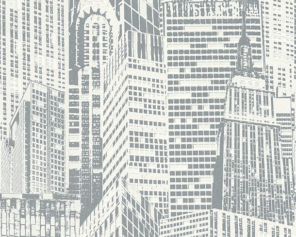 Luminous Wallpaper Glowing skyline grey 2528-52 online kaufen