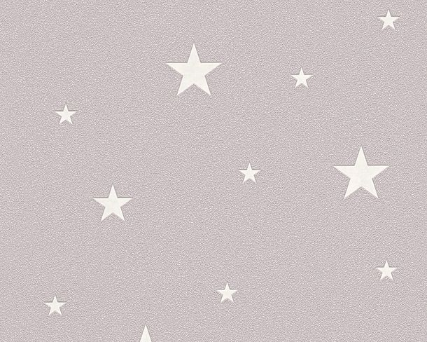 Non-Woven Wallpaper Stars Glow In The Dark taupe 32440-2