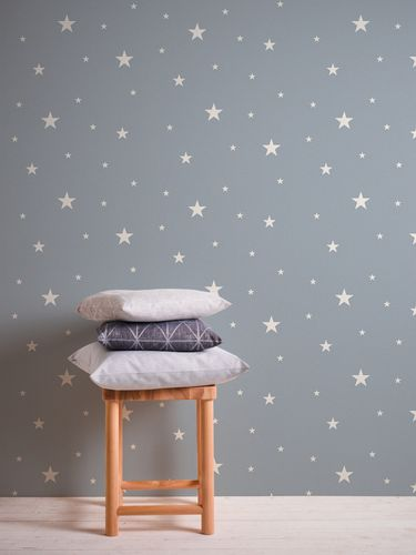 Non-Woven Wallpaper Stars Glow In The Dark blue 32440-3 online kaufen