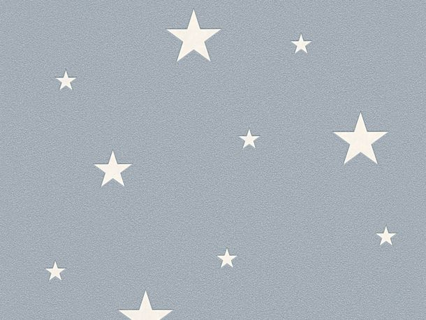 Non-Woven Wallpaper Stars Glow In The Dark blue 32440-3