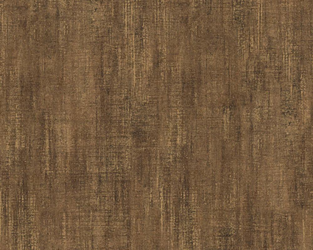 Wallpaper Textured Plain Lutèce Brown Gold 32711 9