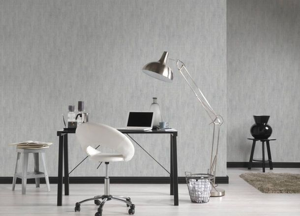 Wallpaper textured plain Lutèce grey 32711-6 online kaufen