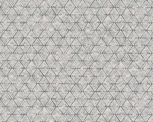 Wallpaper diamond graphic Lutèce white grey 32710-3 online kaufen