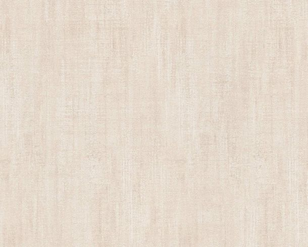 Wallpaper textured plain Lutèce cream 32711-5