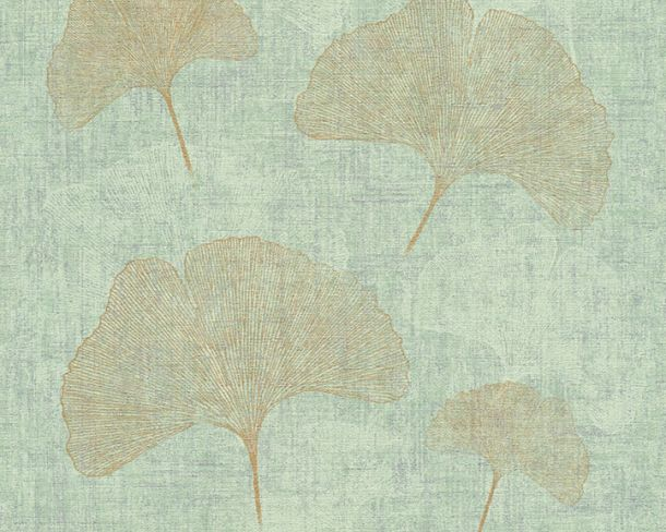 Wallpaper nature leaf AS Creation green gold 32265-2 online kaufen