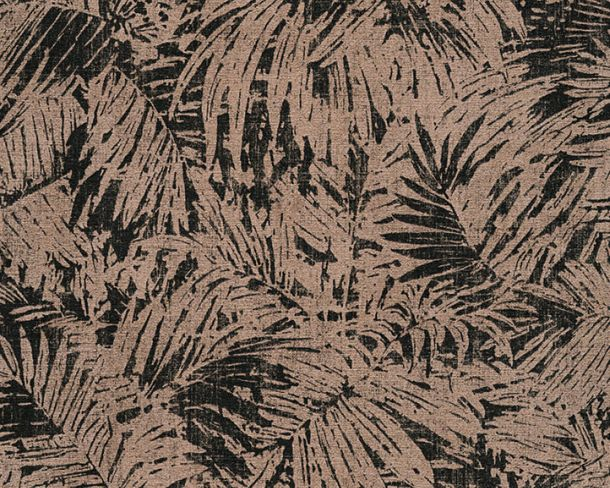 Wallpaper nature fern AS Creation black bronze 32263-1 online kaufen