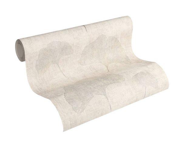 Wallpaper nature leaf AS Creation cream grey silver 32265-3 online kaufen