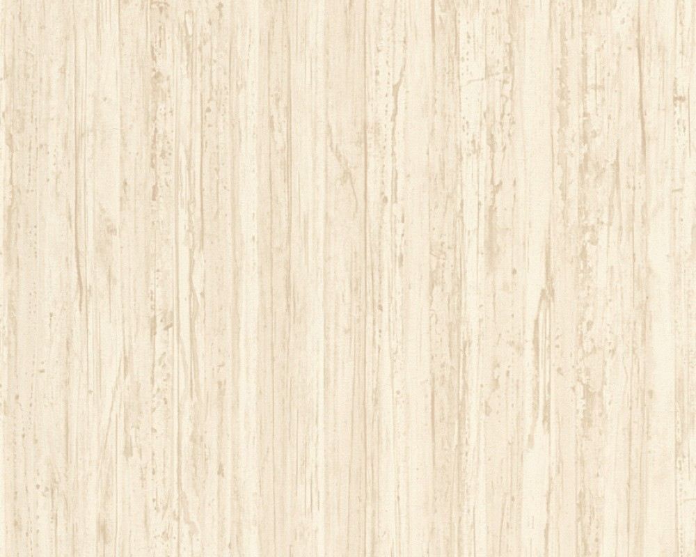 Tapete holz planken natur as creation creme 32714 1 for Tapete auf holz