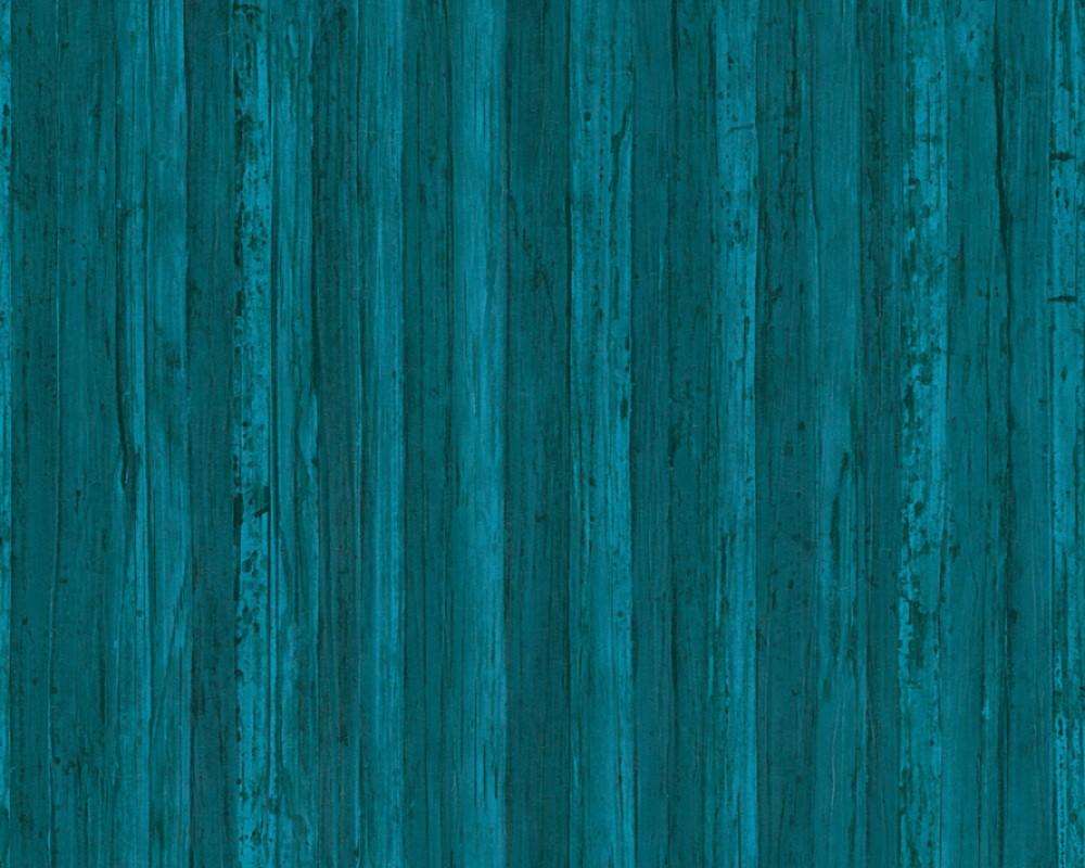 tapete holz planken natur as creation blau 32714 5. Black Bedroom Furniture Sets. Home Design Ideas
