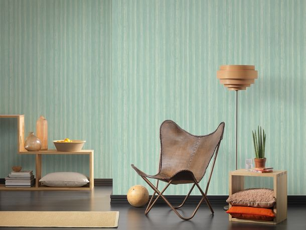 Wallpaper wooden board AS Creation turquoise 32714-4 online kaufen